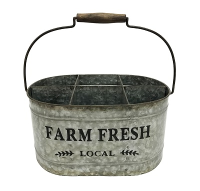 Farm Fresh 6 Bottle Metal Carrier